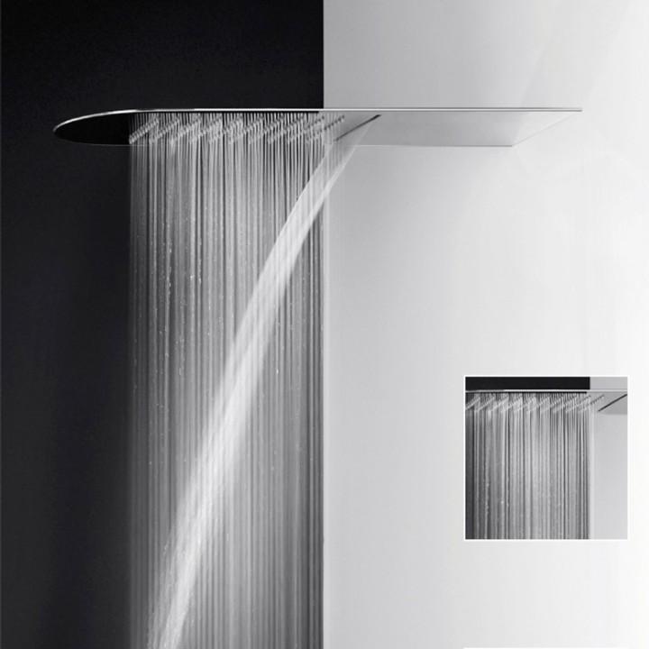 Soffione doccia multifunzione Pioggia/cascata serie Tondo ...
