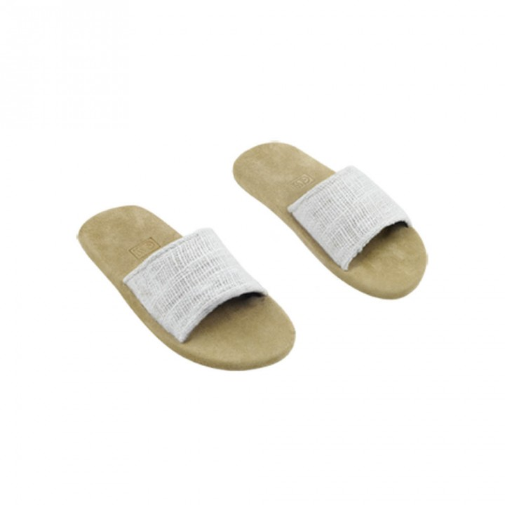 White hemp slippers Gessi Home Collection size M