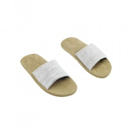 White hemp slippers by Gessi Home Collection size M