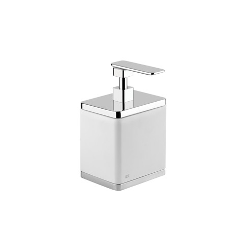 "Standing soap dispenser holder white ""iSpa"" by Gessi chrome"