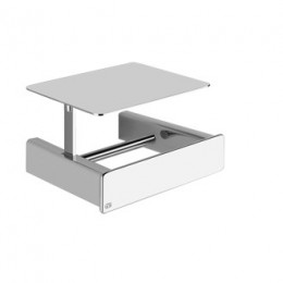 "Wall mounted paper roll holder with cover ""iSpa"" by Gessi chrome"
