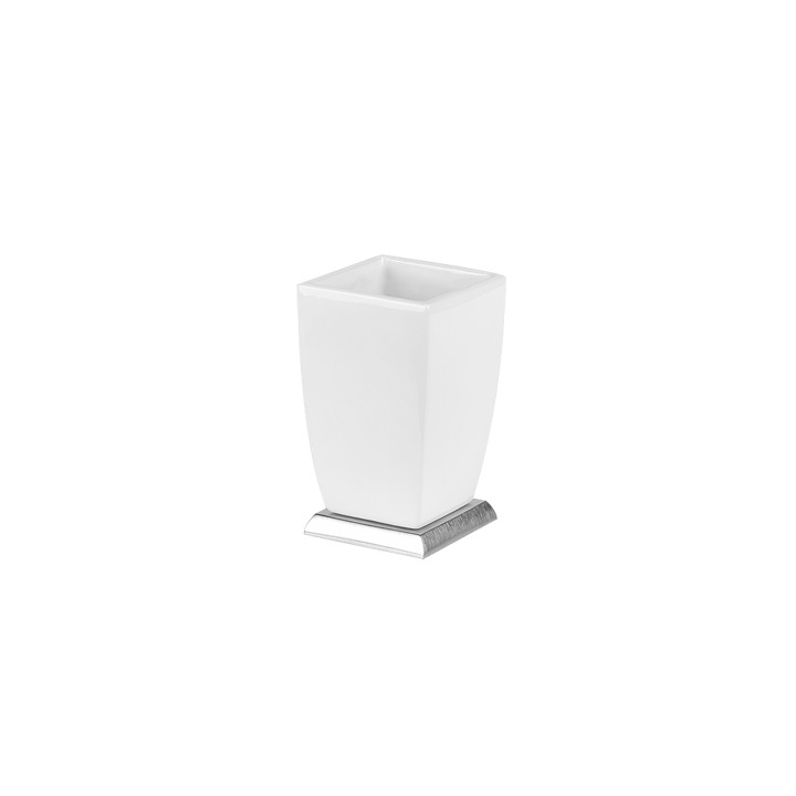 """Standing tumbler holder white """" Mimì"""" by Gessi"""
