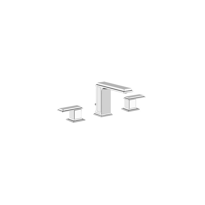 Three-hole basin mixer with spout and pop up waste Eleganza by Gessi