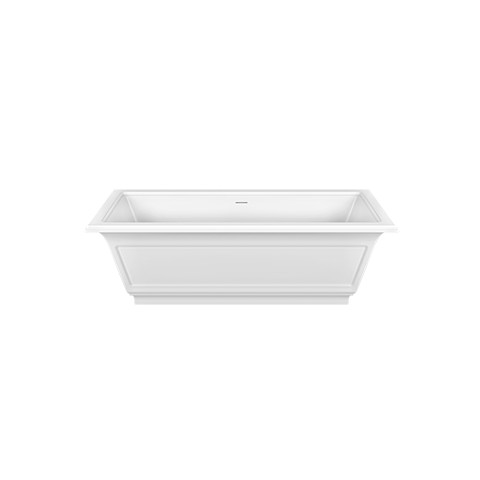 Freestanding bath tube in Cristalplant Eleganza by Gessi matt white