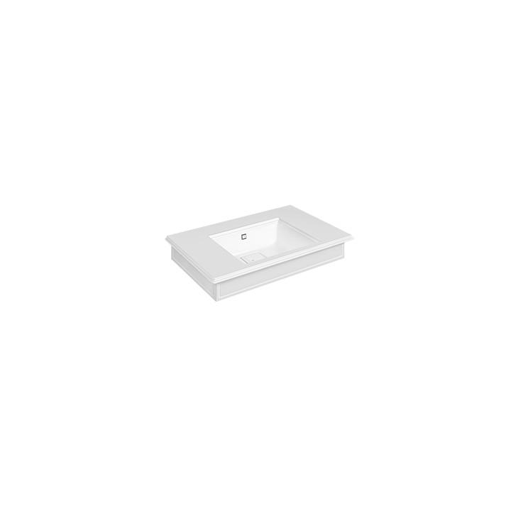 Console in Cristalplant Eleganza by Gessi matt white