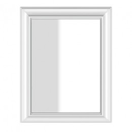 Wall mounted mirror with frame Eleganza by Gessi matt white