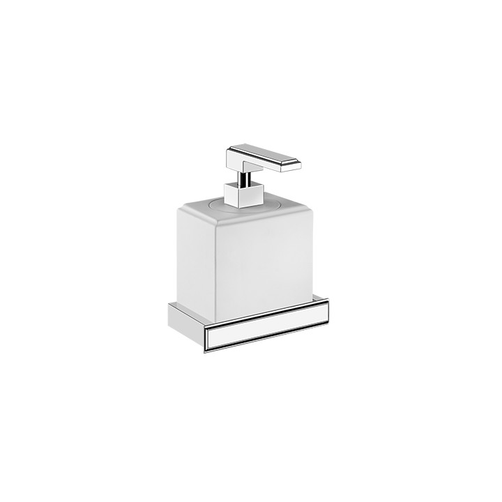 Wall mounted soap dispenser holder Eleganza by Gessi white