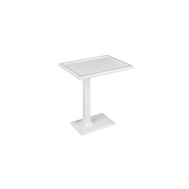 Freestanding side table in Cristalplant Eleganza by Gessi matt white