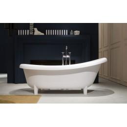 Vasca ovale con piedini modello Suite di Antonio Lupi in cristalplant biobased 192x90