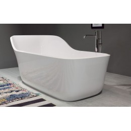 Oval biobased mat Ceramilux bathtub Wanda by Antonio Lupi white