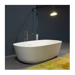 "Freestanding bathtube in cistalplant ""Baia "" by Antonio Lupi white"