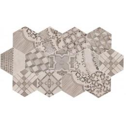 Clays 21x18,2 Marazzi decoro cementine freddo piastrella esagonale in gres porcellanato cotton+lava