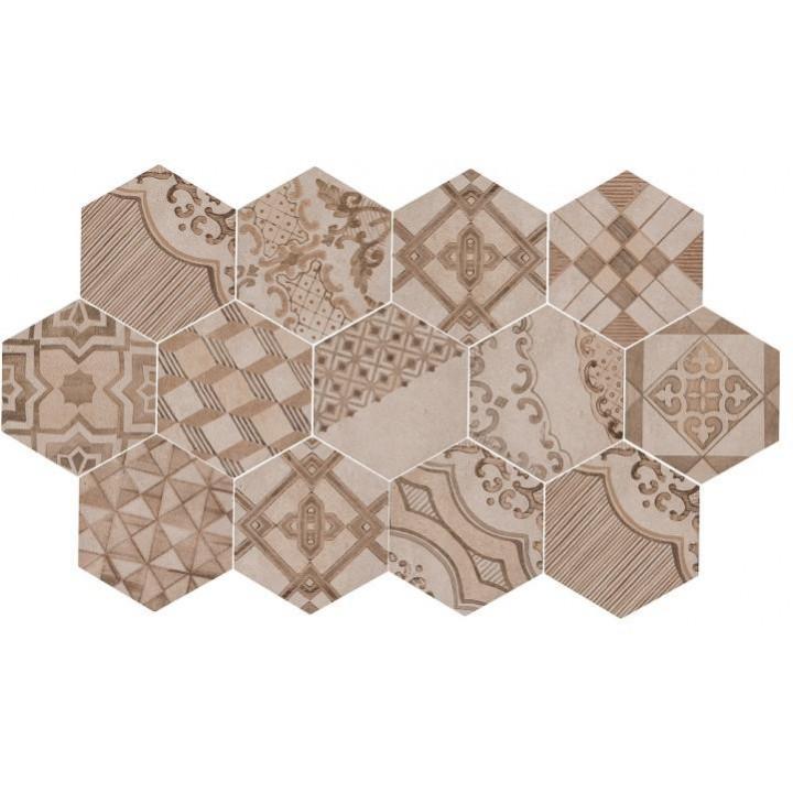 Amato 21x18,2 Marazzi decoro cementine caldo piastrella esagonale in  UB32