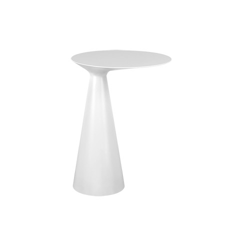 Freestanding side table in Cristalplant Cono by Gessi matt white