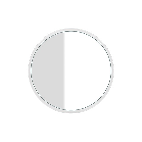 Wall mounted mirror with white frame Cono by Gessi diam. 70 cm