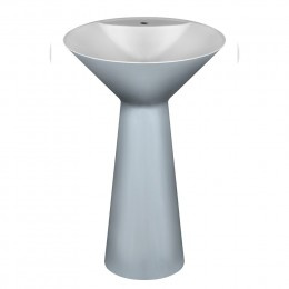 Freestanding washbasin in Cristalplant Cono by Gessi