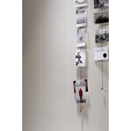Wall diamond tile Oxford Marazzi col. glossy white (12.4x38 cm) for bathroom