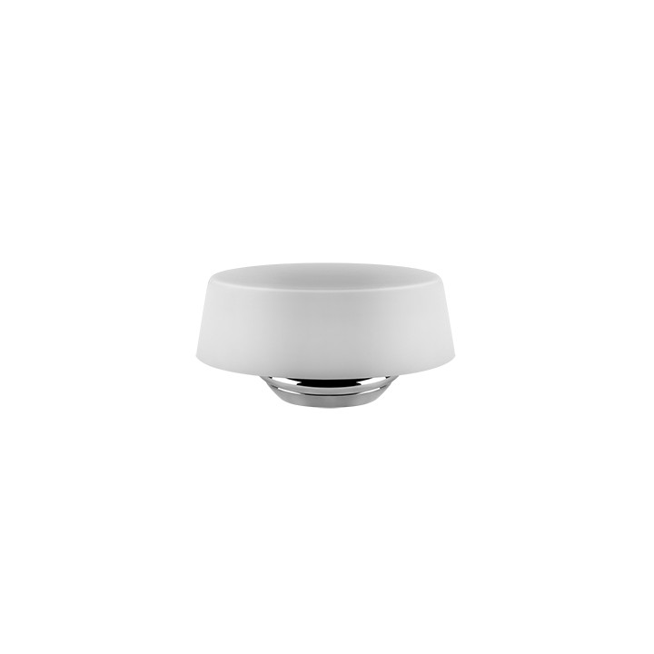 Wall mounted soap holder Cono by Gessi chrome/white