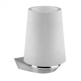 Wall mounted tumbler holder Cono by Gessi chrome/white