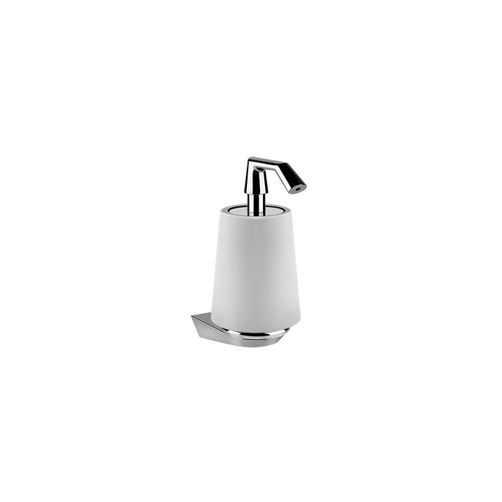 Wall mounted soap dispenser holder Cono by Gessi chrome/white