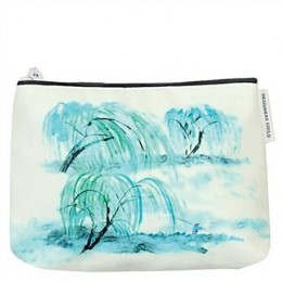 Washbag by Designers Guild Jade Temple cornflower large