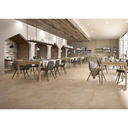 Stoneware tile Clays Marazzi col. sand ( 30x120 cm) for livingroom