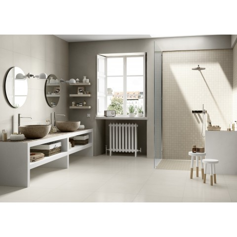 Porcelain tile resin effect Block Marazzi col.white ( 60x60 cm) for livingroom