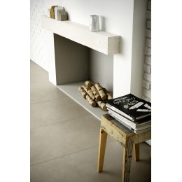 Porcelain tile resin effect Block by Marazzi col.white ( 60x60 cm) for livingroom