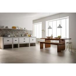 Porcelain tile resin effect Block by Marazzi col.white ( 60x60 cm) for livingroom