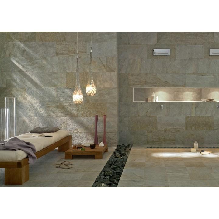 Porcelain tile stone effect Multiquartz Marazzi col.beige (20x40 cm)