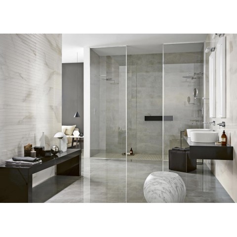 "Wall white paste tile ""Evolutionmarble"" Marazzi col.onyx (32.5x97.7 cm) for bathroo"