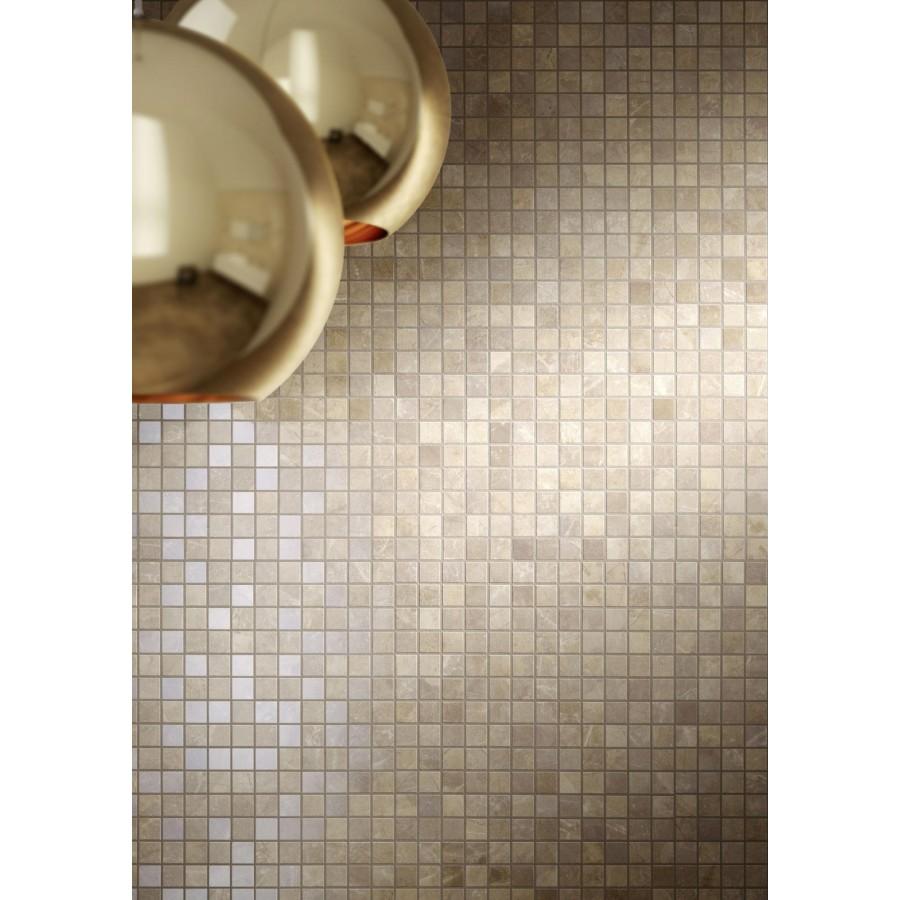 Mosaico su rete rivestimento evolutionmarble marazzi per il bagno - Piastrelle bagno mosaico prezzi ...