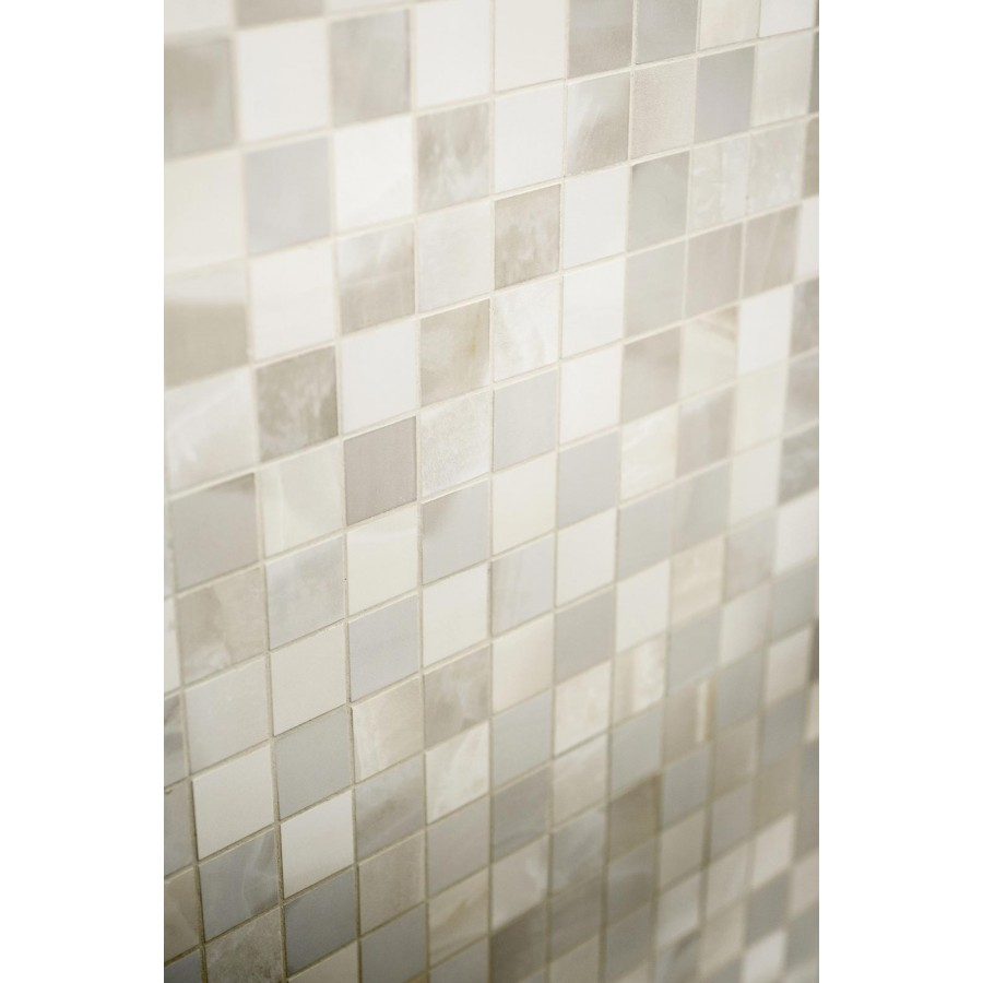 Piastrelle bagno damascate great with piastrelle bagno for Piastrelle mosaico bagno adesive