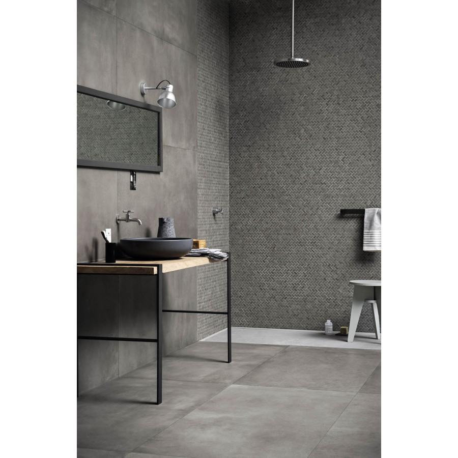 Powder 75x150 marazzi piastrella effetto cemento in gres porcellanato - Una piastrella policroma per rivestimenti ...