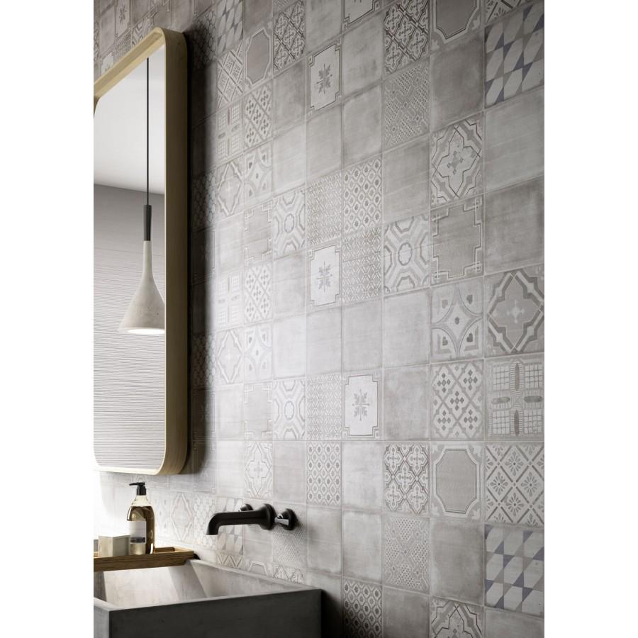 Materika 40x120 marazzi piastrella rivestimento effetto cemento satinato - Una piastrella policroma per rivestimenti ...
