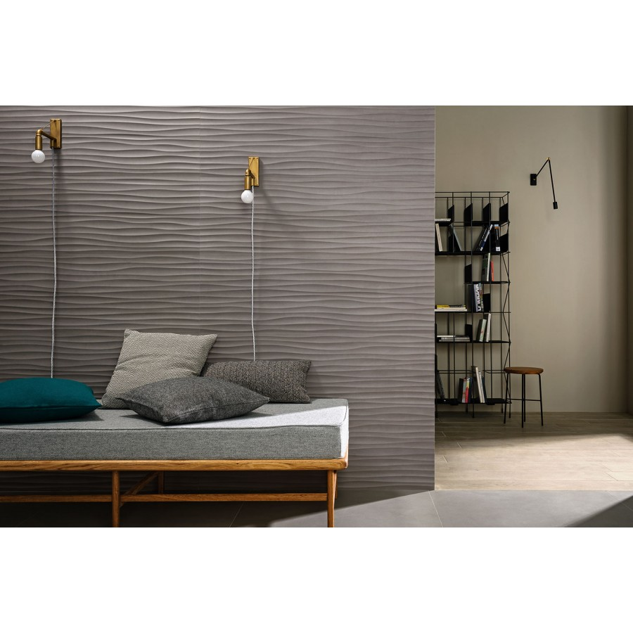 Materika 40x120 By Marazzi Rectified Satin Concrete Effect