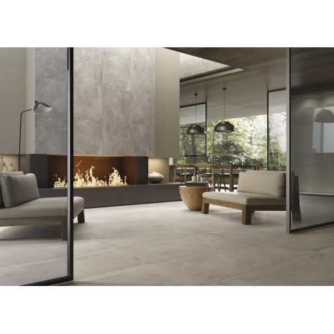 Decorated porcelain tile Urban Wave col. sand by Porcelaingres ( 60x60 cm)