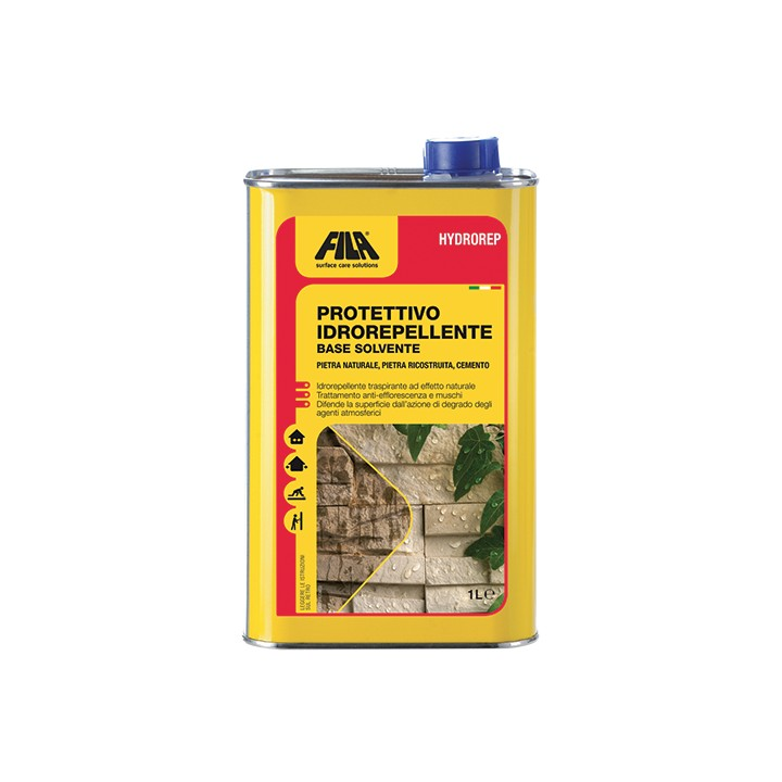 Filahydrorep -invisible protective for natural stone and cement floors lt.1