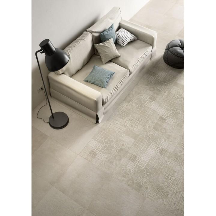 "Porcelain tile wood effect ""Treverkway by Marazzi"" chestnut color for livingroom"