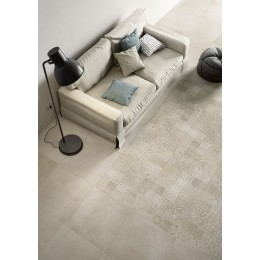Plaster 75x75 by Marazzi porcelain stoneware flooring cement effect