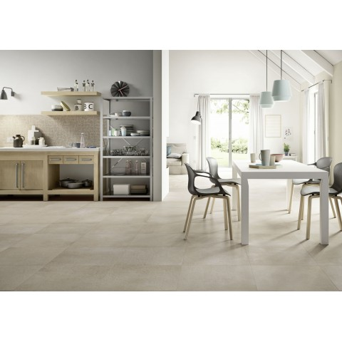 "Porcelain tile wood effect ""Treverkway by Marazzi"" chestnut color for livingroom"