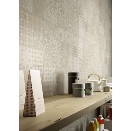 Plaster 30x60 by Marazzi porcelain stoneware flooring cement effect