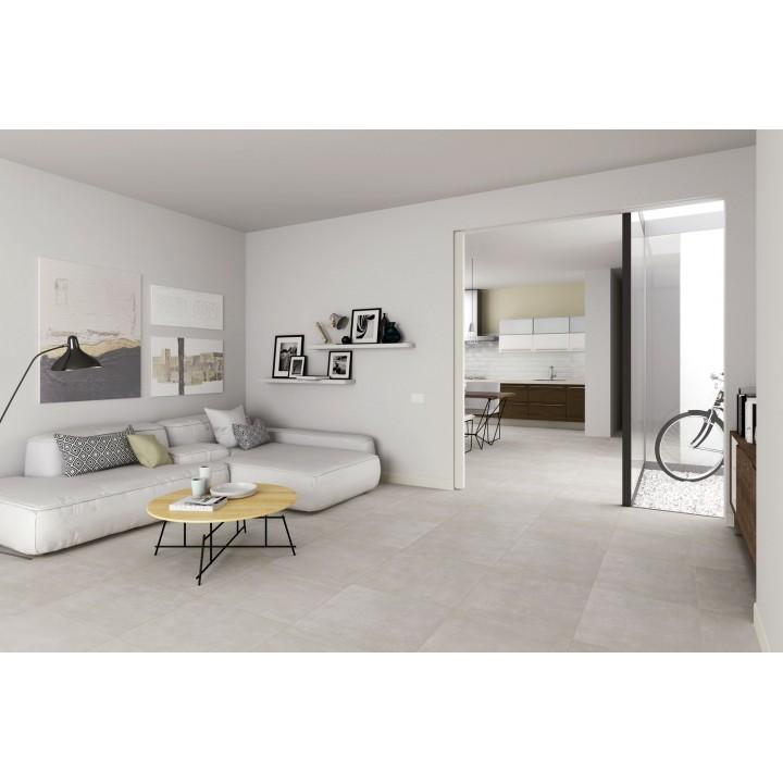 Dust 30x60 marazzi piastrella effetto cemento in gres for Piastrelle soggiorno