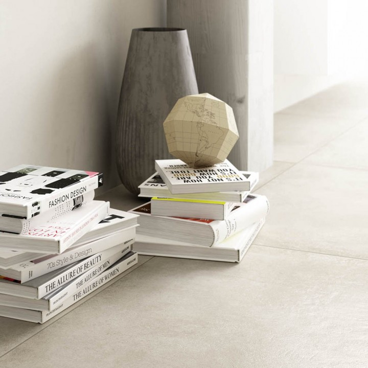 Stoneware tile Clays Marazzi col. shell ( 60x60 cm) for livingroom