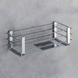 Basket for shower/bath with stainless steel shelf (cm 27)