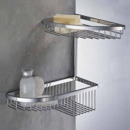 Double corner basket for shower chrome (29 cm)