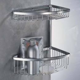 Double corner basket for shower (cm 24,5 ) chrome