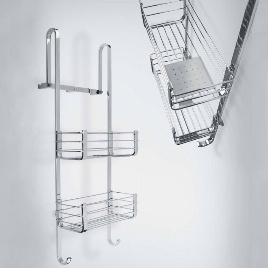 Cavalletto porta oggetti universale per box doccia cromo for Mensole per doccia ikea