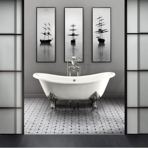 Iron bathtub Admiral by Devon&Devon (172x79 cm) white