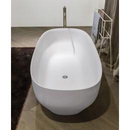 Vasca da bagno ovale in Ceramilux lucido o opaco di modello Ago di Antonio Lupi
